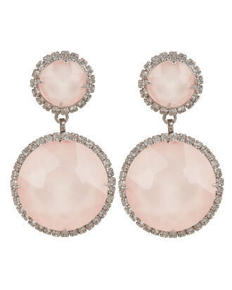 Pink Quartz Drop Earrings, PINK, hi-res