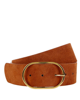 Emmie Suede Belt, BROWN, hi-res