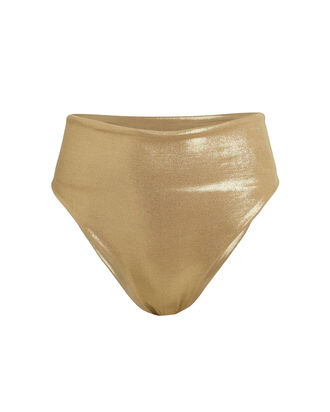 Marina High-Waist Bikini Bottoms, GOLD, hi-res