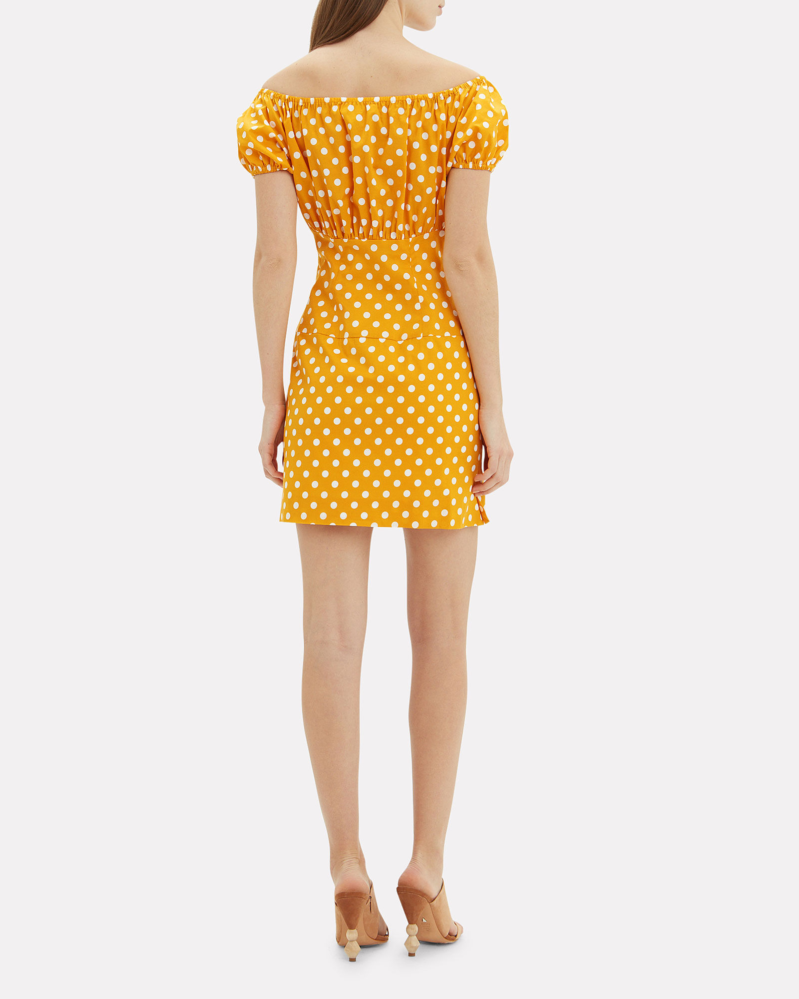 Calla Polka Dot Mini Dress, MULTI, hi-res