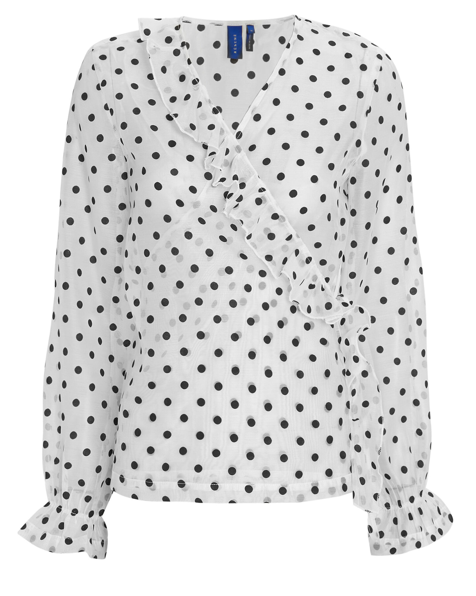 Mindy Polka Dot Top, WHITE, hi-res