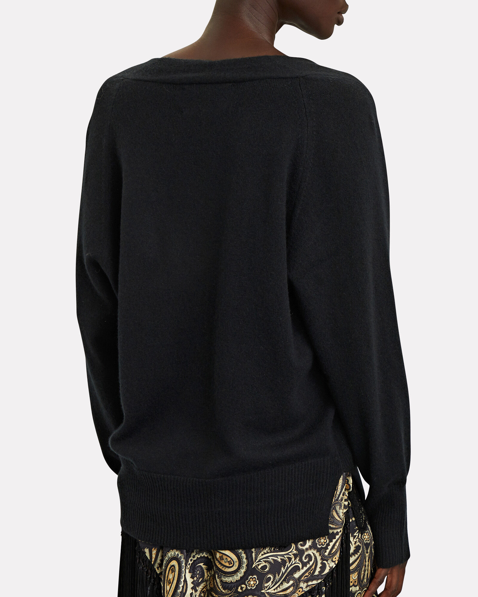 Looker Lace-Trimmed Sweater, BLACK, hi-res
