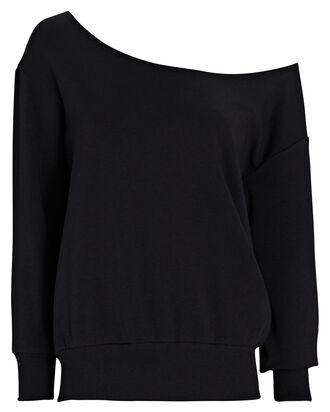Kimora Boat Neck Sweatshirt, BLACK, hi-res