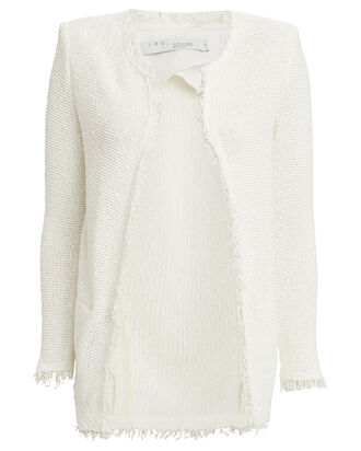 Lela Knit Cardigan Jacket, WHITE, hi-res