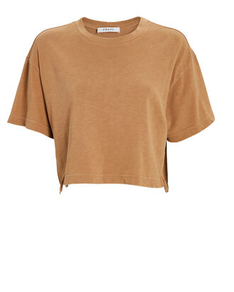 Boxy Cropped T-Shirt, BEIGE, hi-res