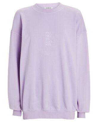 Bennie Oversized Cotton Sweatshirt, LIGHT PURPLE, hi-res