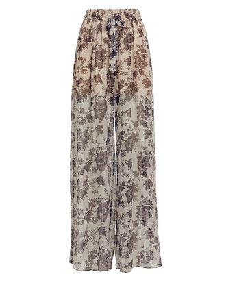 Juno Wide Leg Pants, greige/dark floral, hi-res