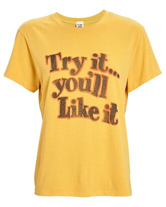 70s Recycled Loose T-Shirt, YELLOW, hi-res