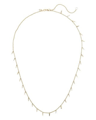 Pavé Fringe Drop Necklace, GOLD, hi-res