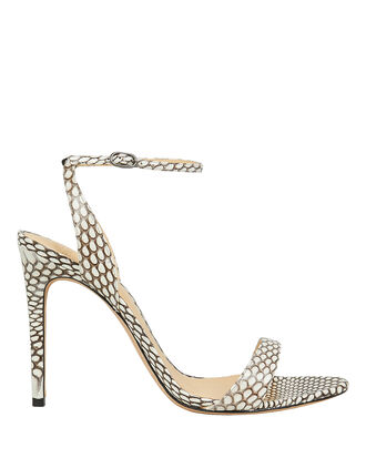 Willow Snake Print Sandals, GREY SNAKE PRINT, hi-res