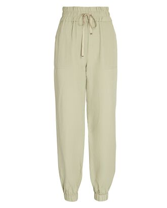 Tobey High-Rise Joggers, PALE GREEN, hi-res
