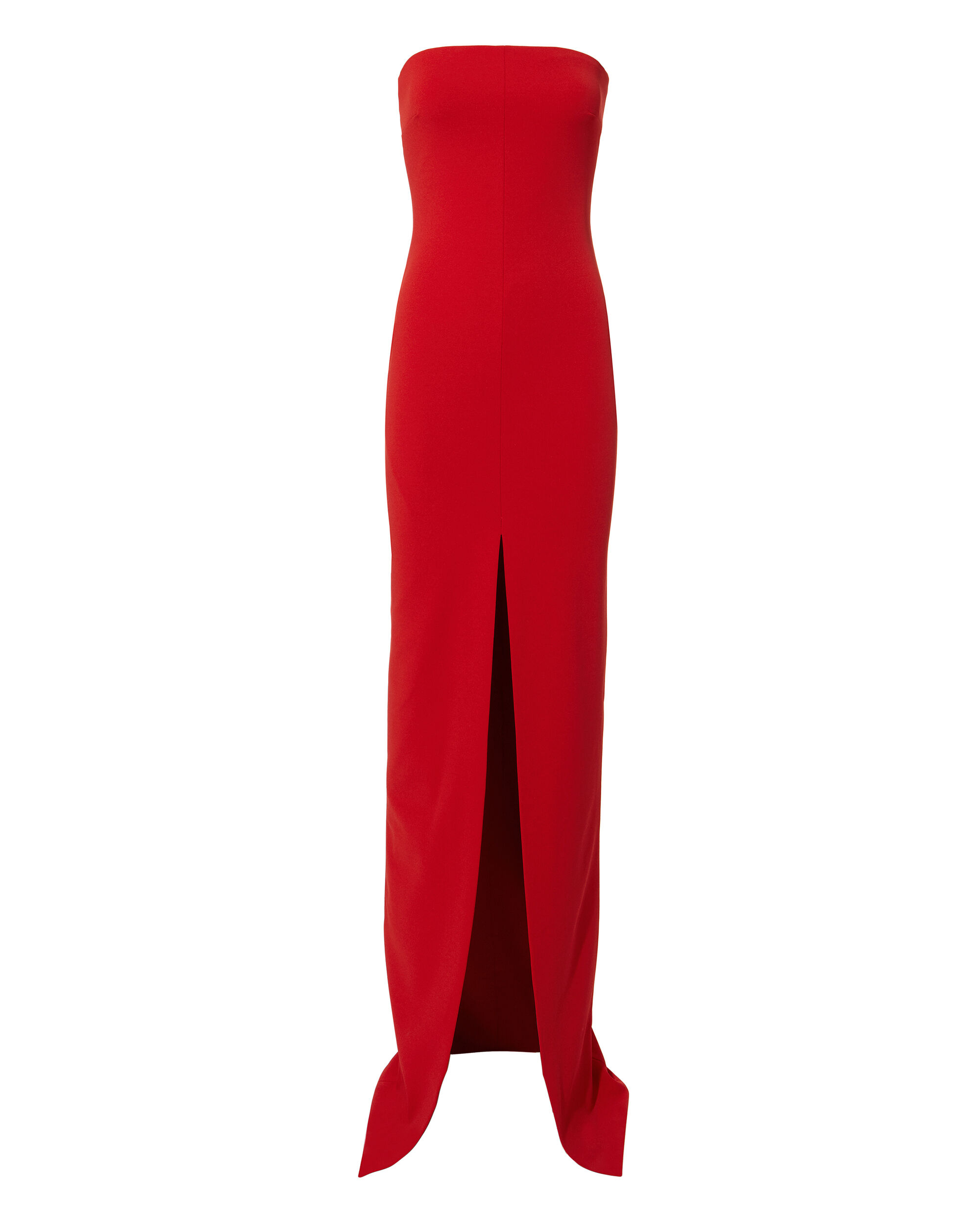 Bysha Strapless Gown, RED, hi-res