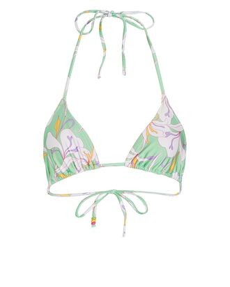 Lemongrass Halter Bikini Top, LIGHT GREEN, hi-res