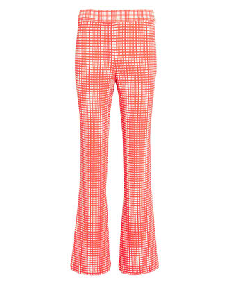 Henry Flared Gingham Pants, PINK, hi-res