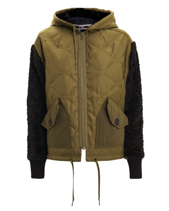 Hybrid Jacket, OLIVE/BLACK, hi-res