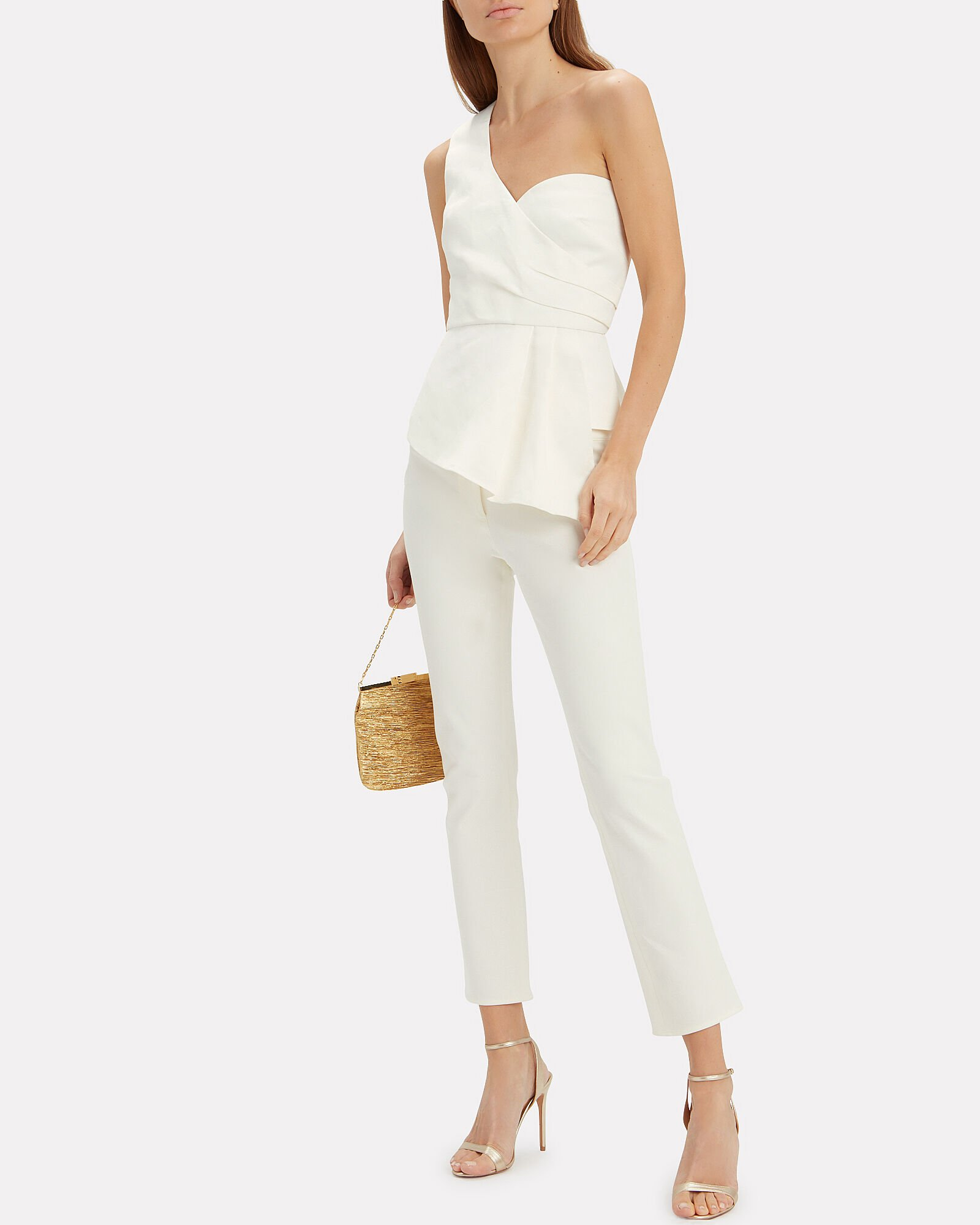 Rumi Stretch-Cotton Cropped Pants, WHITE, hi-res