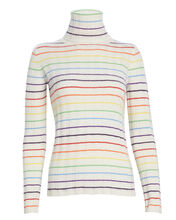 Sarge Rainbow Striped Cashmere Turtleneck, IVORY/RAINBOW STRIPE, hi-res