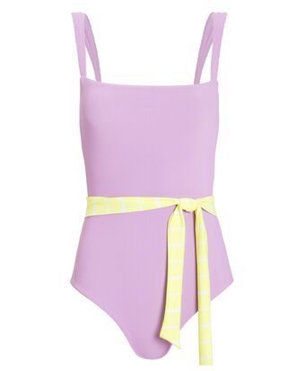 Betty One Piece Swimsuit, LAVENDER, hi-res
