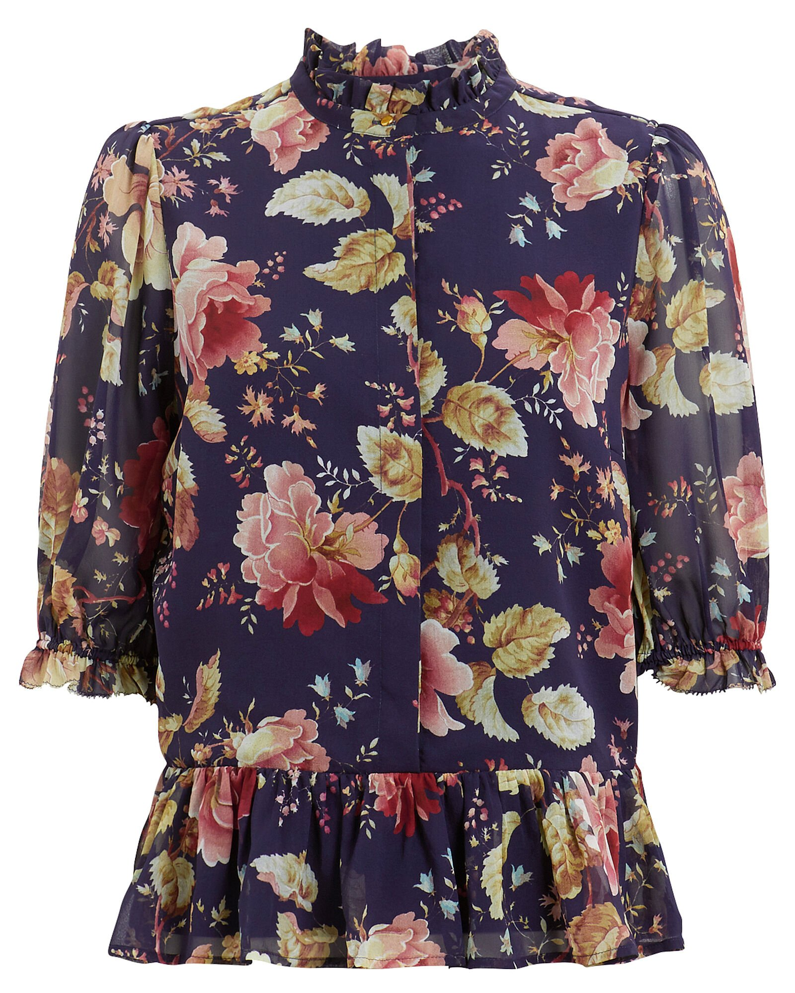 Maggie Amazing Flower Silk Blouse, MULTI, hi-res