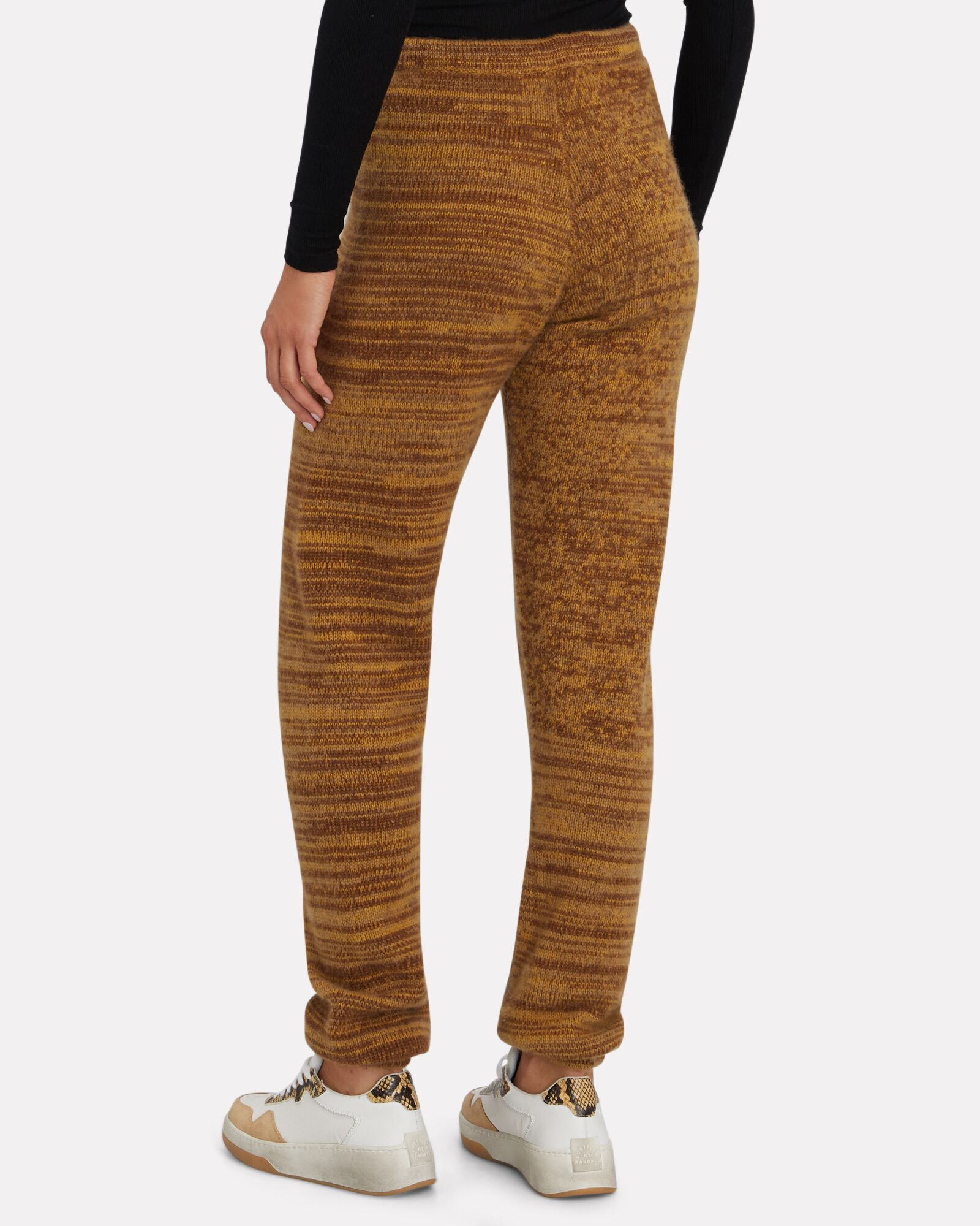 Angelina Knit Cashmere Joggers, BEIGE, hi-res