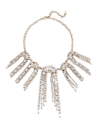 Gelo Pearl and Crystal Necklace, GOLD, hi-res