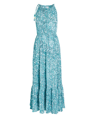 Rachel Floral Maxi Dress, PALE BLUE/WHITE, hi-res