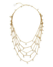 Layered Necklace, GOLD, hi-res