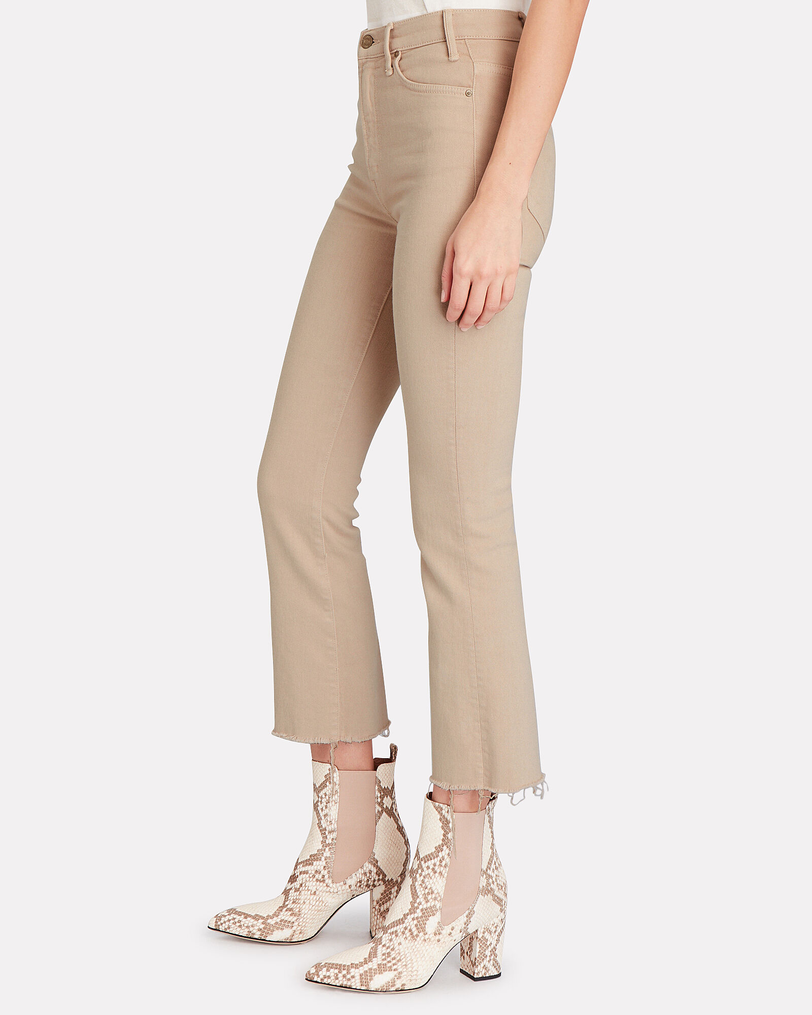 The Hustler Ankle Fray Jeans, BEIGE, hi-res