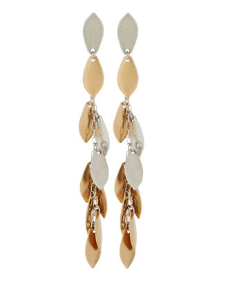 El Condor Fringe Drop Earrings, GOLD/SILVER, hi-res
