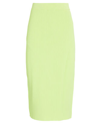 Jolene Ribbed Wrap Midi Skirt, GREEN-LT, hi-res