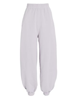 Curved Cotton Sweatpants, LIGHT PURPLE, hi-res