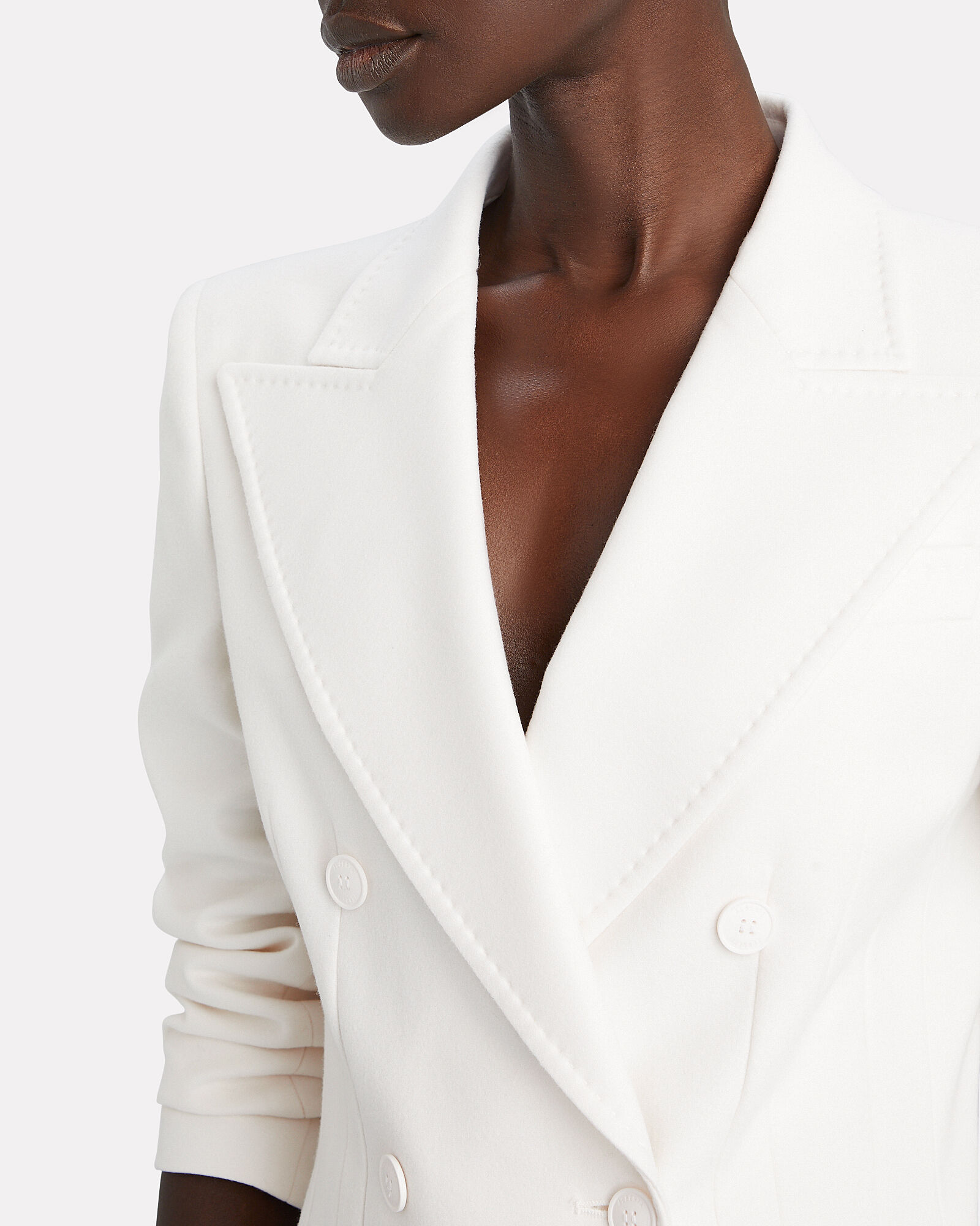 Double-Breasted Wool-Blend Blazer, , hi-res