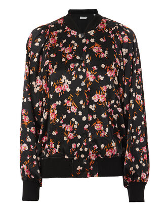 Kelley Floral-Print Bomber Jacket, MULTI, hi-res