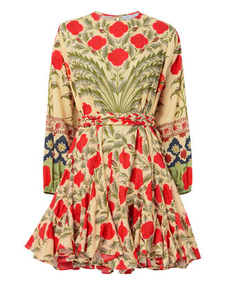 Ella Red Floral Swing Dress, PRINT, hi-res