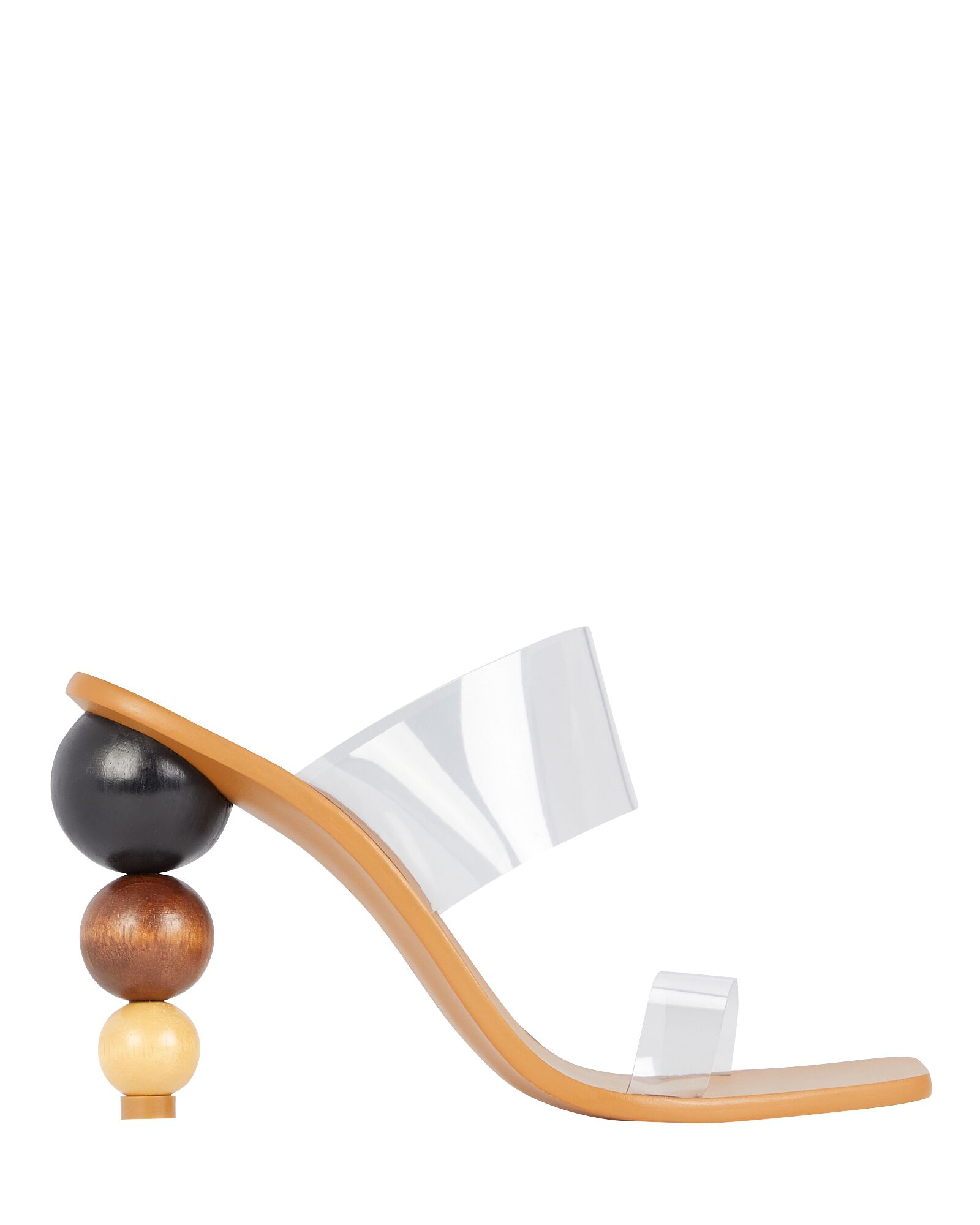 Vita PVC Slide Sandals, BROWN, hi-res