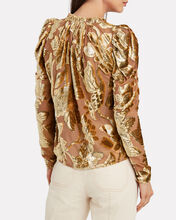 Camilla Metallic Devoré Blouse, ROSE, hi-res