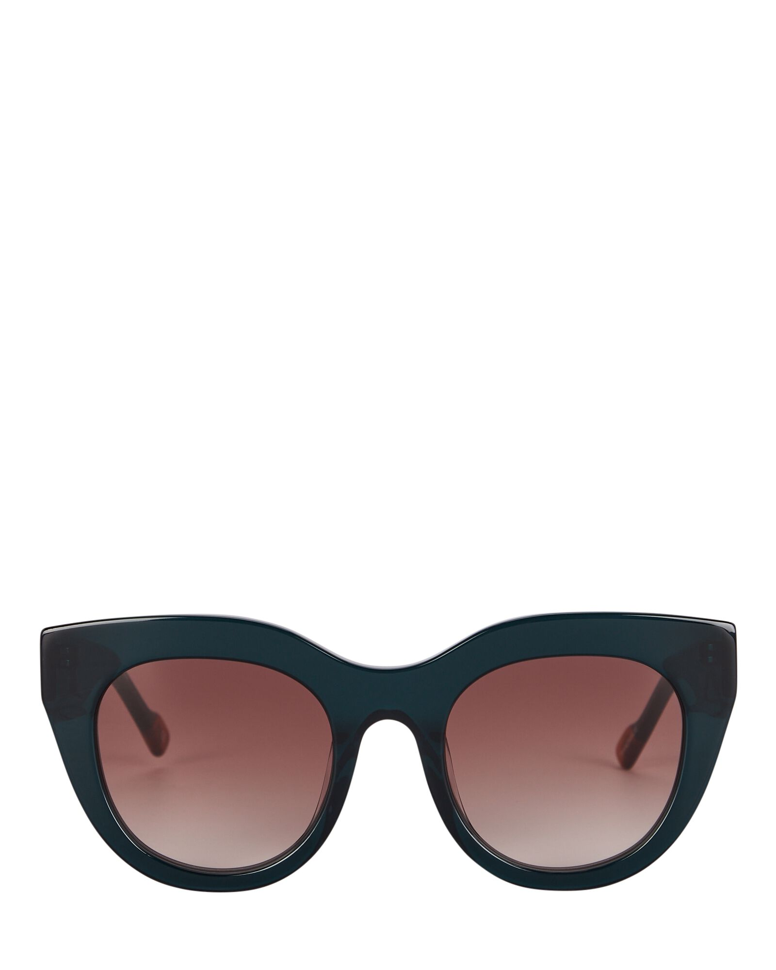 Airy Canary Cat Eye Sunglasses, GREEN/BROWN, hi-res