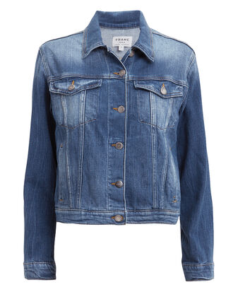 Le Vintage Denim Jacket, BLUE DENIM, hi-res