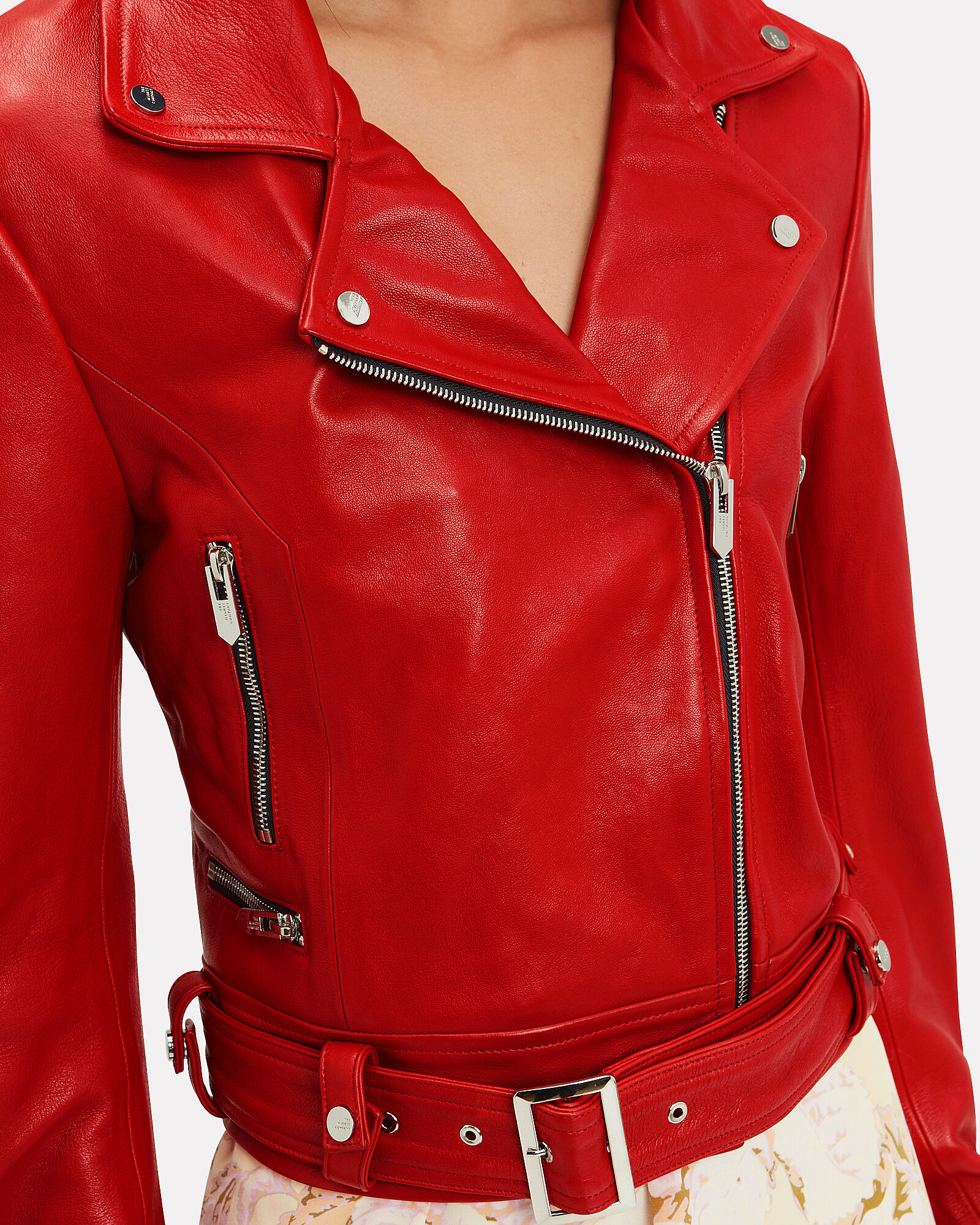 The Ripley Red Leather Jacket, RED, hi-res