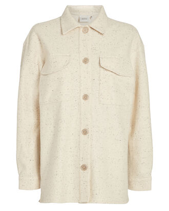 Sadie Wool-Blend Shirt Jacket, IVORY, hi-res
