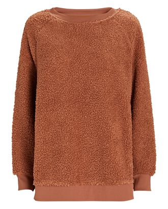 Oakden Fleece Sweatshirt, ORANGE, hi-res