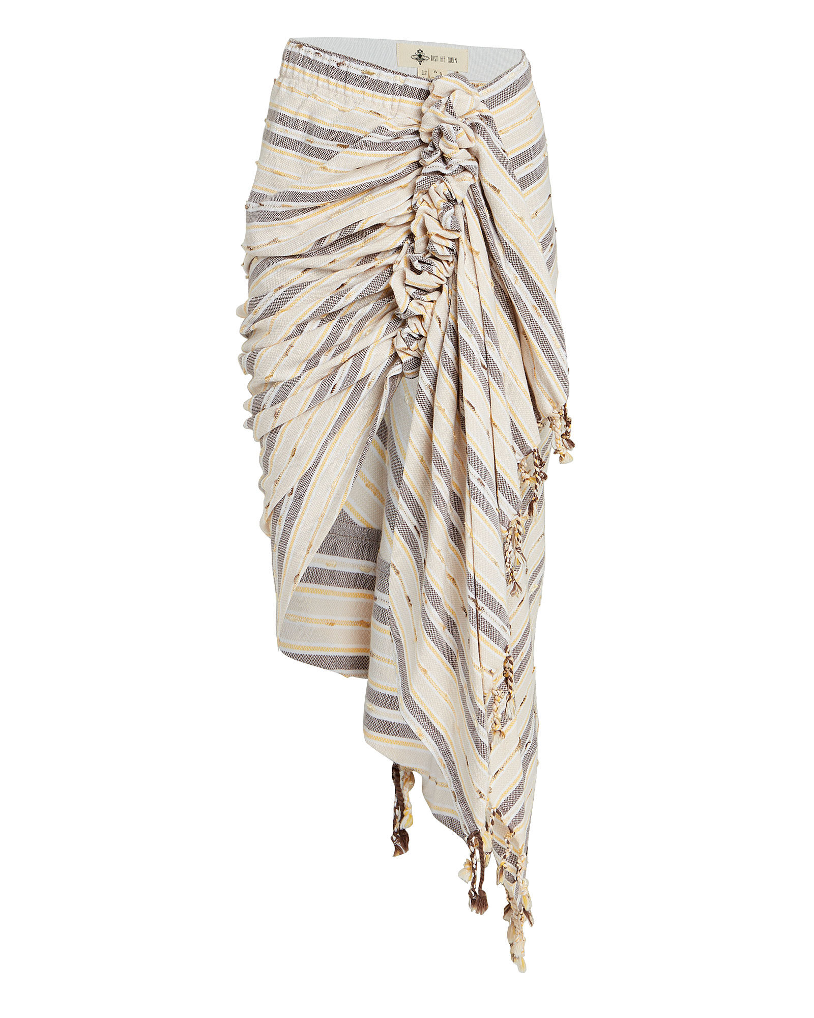 Tulum Ruched High-Low Skirt, BEIGE/NAVY, hi-res