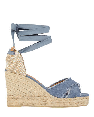 Bluma 80 Espadrille Wedges, MEDIUM WASH DENIM, hi-res