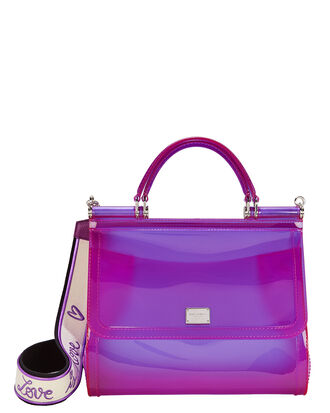 Sicily Purple Rubber Bag, PURPLE, hi-res