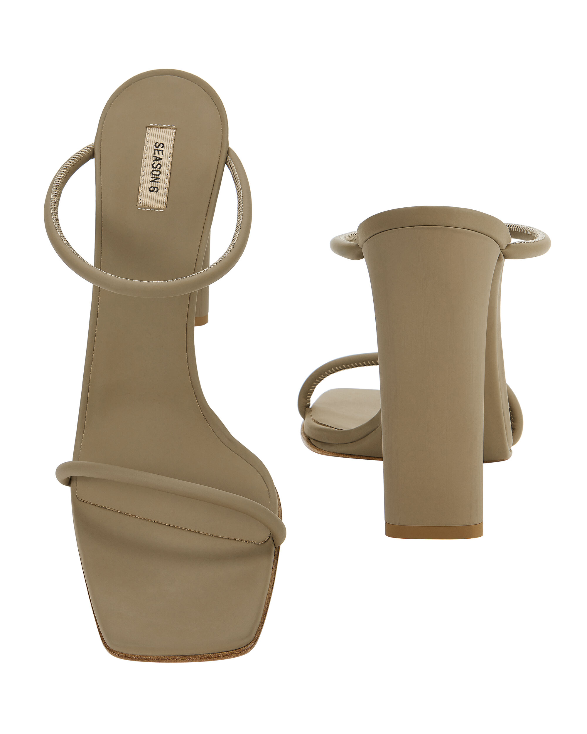 Double Strap High Sandals, OLIVE, hi-res