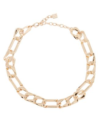 Libby Flat Curb Chain Necklace, GOLD, hi-res