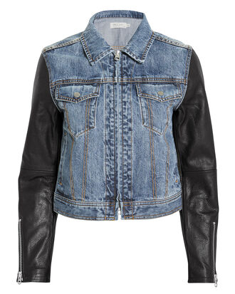 Nico Jacket, BLUE DENIM/BLACK, hi-res