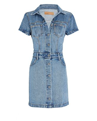 Macie Denim Mini Dress, Blue Muse, hi-res