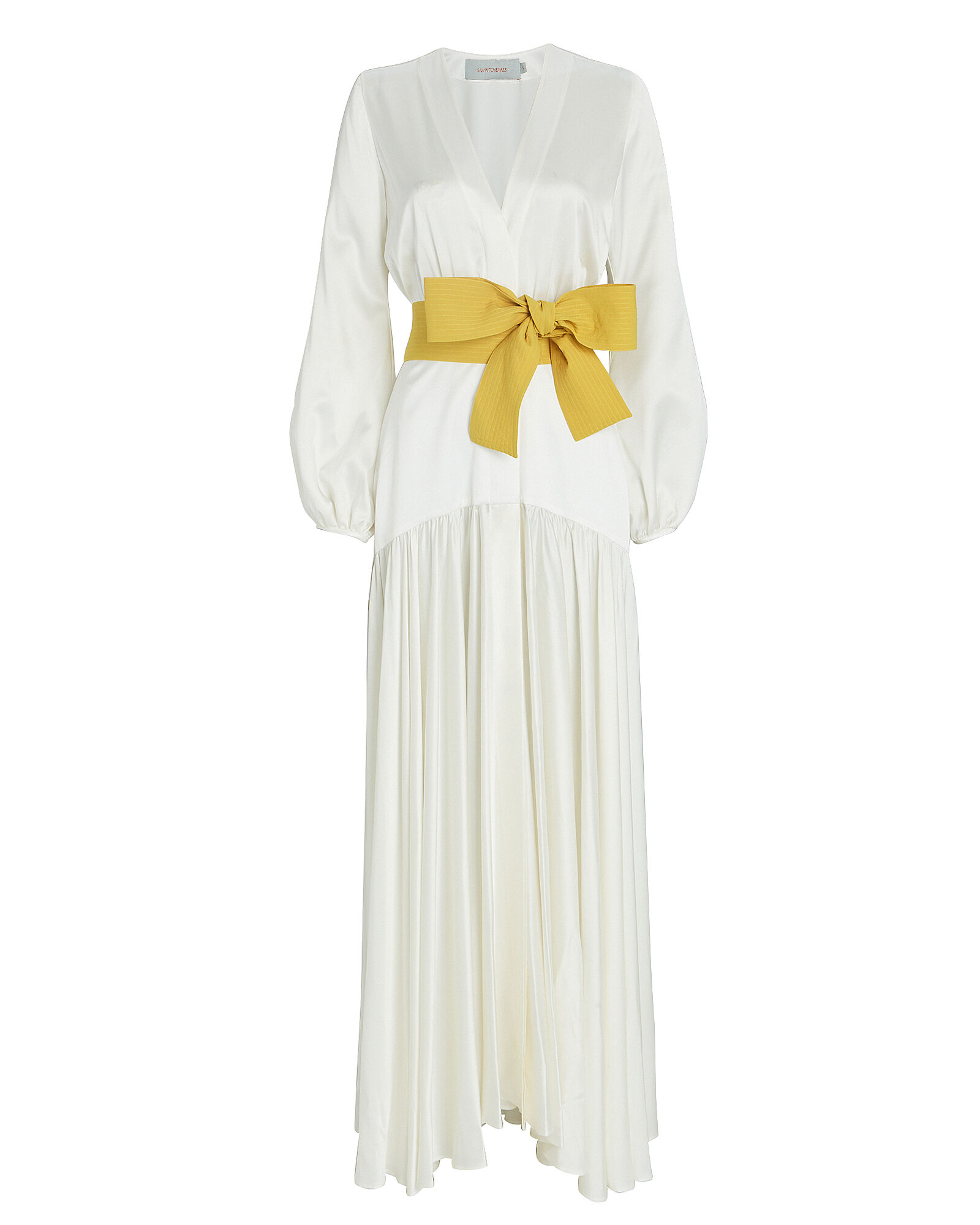 Felicity Tie-Waist Maxi Dress, IVORY, hi-res