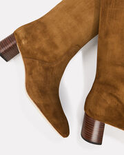 Gia Cacao Suede Boots, BROWN, hi-res